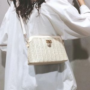 OFF WHITE WOVEN STYLE CROSSBODY BAG